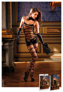 Sheer Jacquard Bodystocking Black (disc)